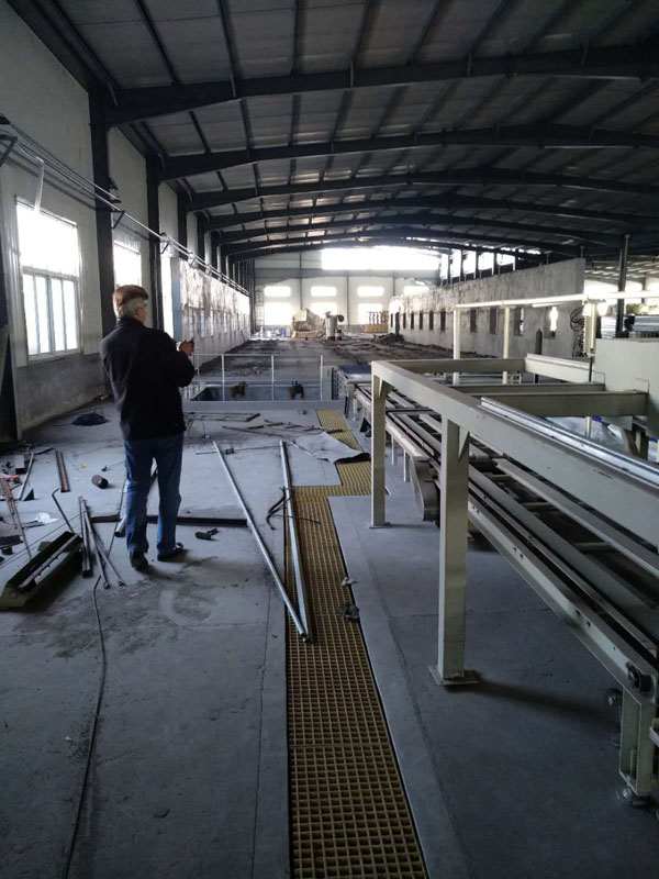 Cartel customers visit glass magnesium board equipment