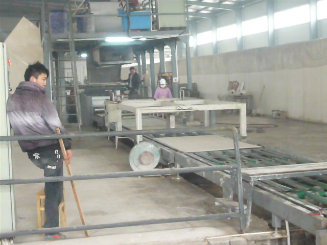 Fire board production line installation and commissioning