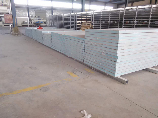 New exterior wall insulation board production line customer case 36